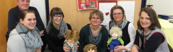 v.links: Harald Nolte, Britta Hüther, Gilda Schweitzer, Sabine Petschauer,  Iris Schlender und Rosi May
